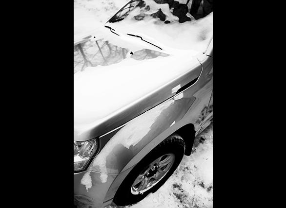 Wgniecenia po opadach śniegu